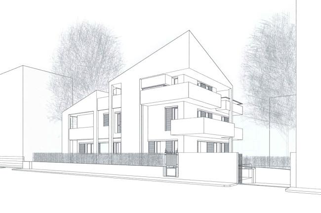 Progetto di ristrutturazione edificio via trebbi privato for Progetto di ristrutturazione